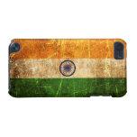 Bandera rasguñada y llevada del indio del vintage