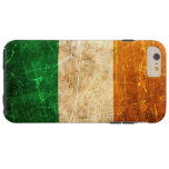 Bandera rasguñada y llevada del irlandés del