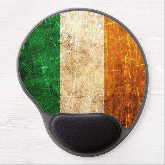 Bandera rasguñada y llevada del irlandés del vinta alfombrilla de ratón con gel