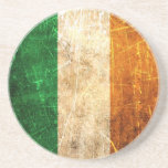 Bandera rasguñada y llevada del irlandés del vinta posavasos manualidades