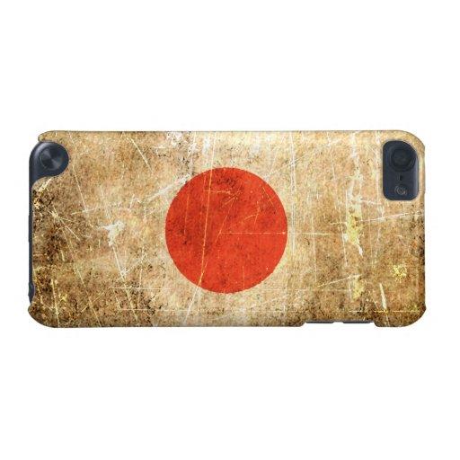 Bandera rasguñada y llevada del japonés del vintag