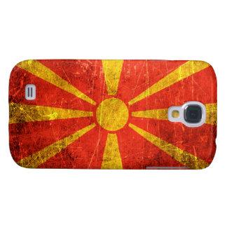 Bandera rasguñada y llevada del macedonio del vint