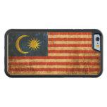 Bandera rasguñada y llevada del malasio del funda de iPhone 6 bumper arce