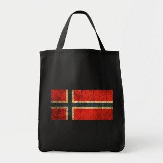 Bandera rasguñada y llevada del noruego del vintag bolsa de mano