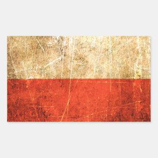 Bandera rasguñada y llevada del polaco del vintage rectangular altavoces
