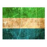 Bandera rasguñada y llevada del Sierra Leone del v Tarjeta Postal