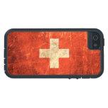 Bandera rasguñada y llevada del suizo del vintage iPhone 5 Case-Mate carcasa