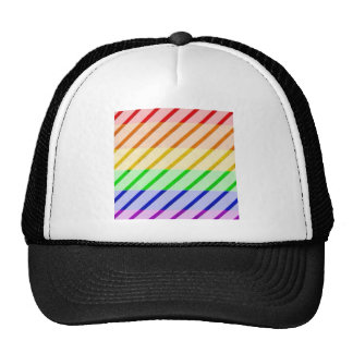Bandera rayada del orgullo gay gorros