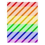 Bandera rayada del orgullo gay postal