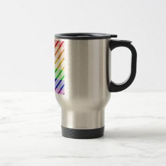 Bandera rayada del orgullo gay taza