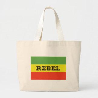 Bandera rebelde de Rasta Bolsa Tela Grande