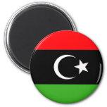 Bandera rebelde del libio imanes