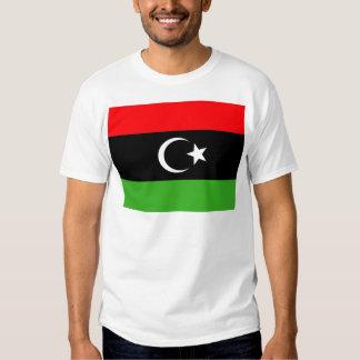 Bandera rebelde del libio polera