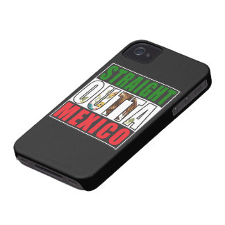 Bandera recta de Outta México Funda Para iPhone 4 De Case-Mate