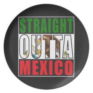Bandera recta de Outta México Plato De Cena