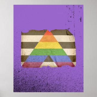 Bandera recta del aliado del vintage póster