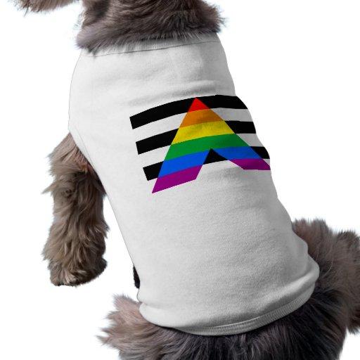 Bandera recta del aliado playera sin mangas para perro