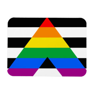 Bandera recta del orgullo del aliado rectangle magnet