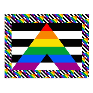 Bandera recta del orgullo del aliado postales