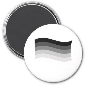 Bandera recta del orgullo imán redondo 7 cm