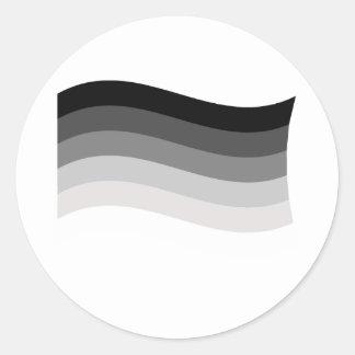 Bandera recta del orgullo pegatina redonda