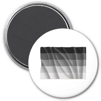 Bandera recta del orgullo que agita imán redondo 7 cm
