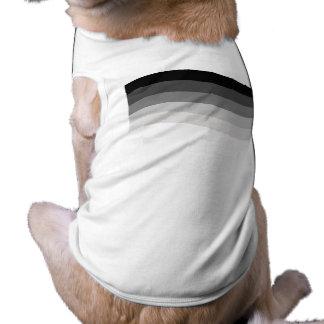 Bandera recta del orgullo playera sin mangas para perro