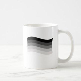 Bandera recta del orgullo taza básica blanca