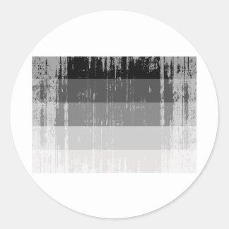 Bandera recta distressed.png del orgullo pegatina redonda