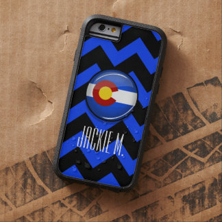 Bandera redonda brillante de Colorado Funda De iPhone 6 Tough Xtreme