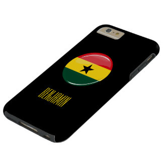Bandera redonda brillante de Ghana Funda Para iPhone 6 Plus Tough