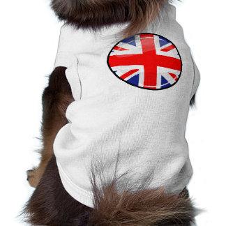 Bandera redonda brillante de Inglaterra Reino Playera Sin Mangas Para Perro