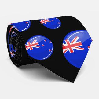 Bandera redonda brillante de Nueva Zelanda Corbata