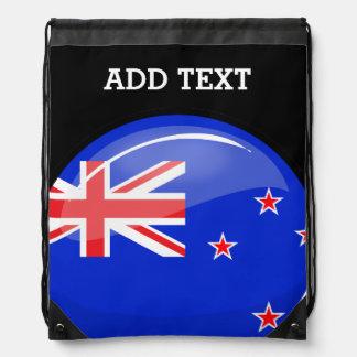 Bandera redonda brillante de Nueva Zelanda Mochila