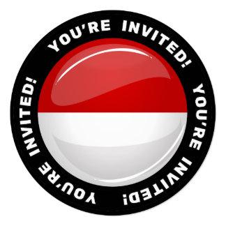 """Bandera redonda brillante de Polonia Invitación 5.25"""" X 5.25"""""""