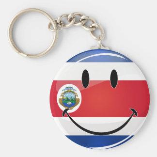 Bandera redonda brillante de Rican de la costa Llavero Redondo Tipo Pin