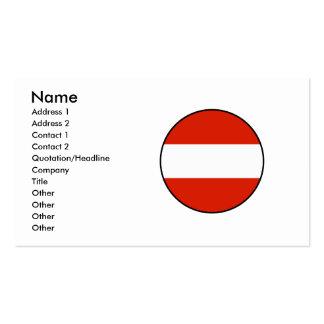 Bandera redonda de Austria confinada Tarjetas De Visita