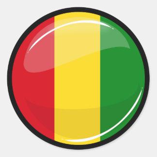 Bandera redonda de Guinea Pegatina Redonda