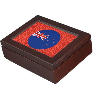 Bandera redonda de Nueva Zelanda Cajas De Recuerdos