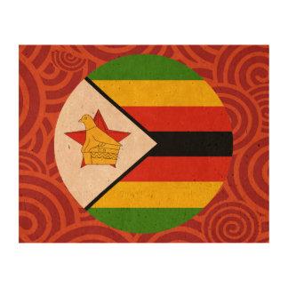 Bandera redonda de Zimbabwe Papel De Corcho Para Fotos