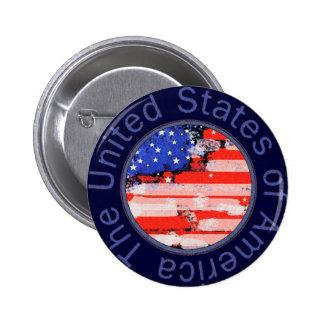 bandera redondeada de los E.E.U.U. Pins