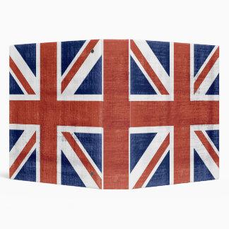 Bandera Reino Unido del vintage 2 carpetas