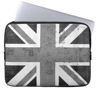Bandera Reino Unido del vintage 2 mangas del orden Funda Portátil