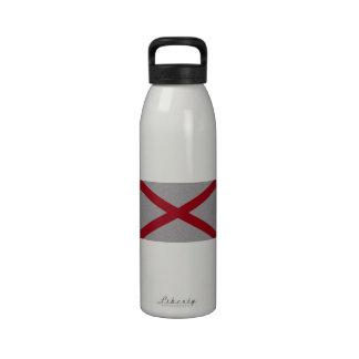 Bandera reluciente de Alabama Botellas De Agua Reutilizables