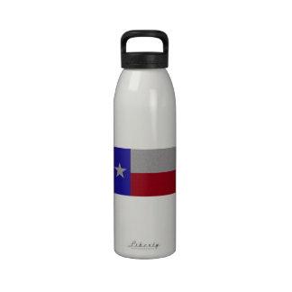 Bandera reluciente de Tejas Botella De Agua
