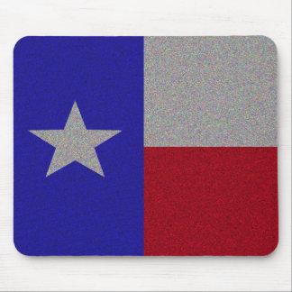 Bandera reluciente de Tejas Alfombrilla De Raton