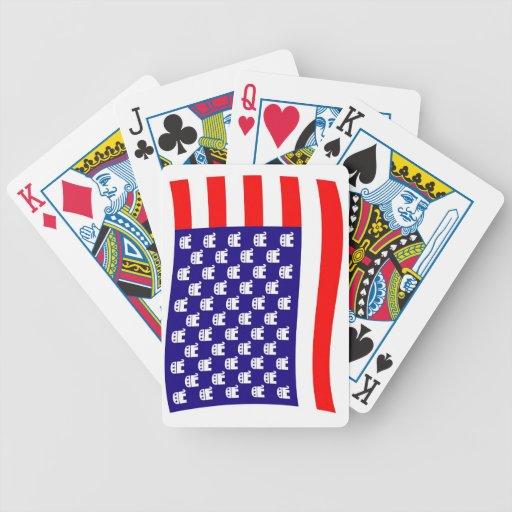 Bandera republicana de las barras y estrellas baraja cartas de poker