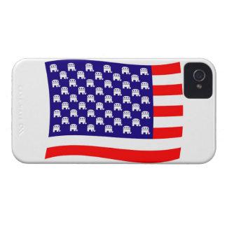 Bandera republicana de las barras y estrellas iPhone 4 carcasas