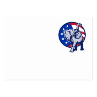 Bandera republicana de los E.E.U.U. de la mascota  Tarjetas De Visita