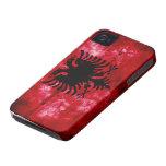 Bandera resistida de Albania iPhone 4 Case-Mate Cárcasas